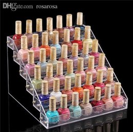 Venta Al Por Mayor Acrílico Clavo Polaco Racks Baratos-Nail mayor-1pc Tabla polaco expositor Manicura Pedicura Acrílico Belleza medio Holder 6 capa RA388