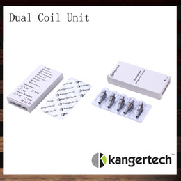 Chinese  New Kanger Dual Coil Unit For Kangertech Aerotank Aerotank Mega Aerotank Mini Evod Glass Protank3 Mini EMOW Cartomizer 100% Original manufacturers