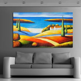 $enCountryForm.capitalKeyWord Canada - Handpainted Unique Gift Free Shipping Pictures Beautiful Scenery Art on Canvas Modern Wall Stickers Decorative Oil Paintings