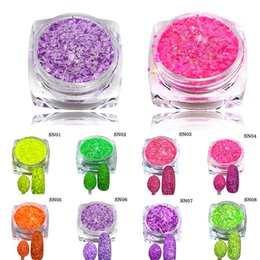 powder pigments for nail art 2019 - Wholesale- 3g New Cheese Colorful Beauty Sequins Nail Art Tips Pigment Decorations Nail Powder Dust for Women DIY Nail G