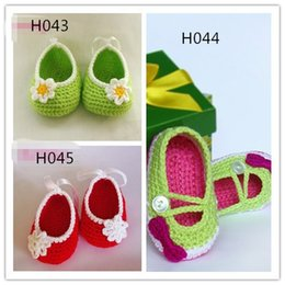 Baby Shoes Booties NZ - 2015 Handmade Cute Crochet baby booties first walker shoes Soft design cotton 0-12M Crochet baby first walk shoes