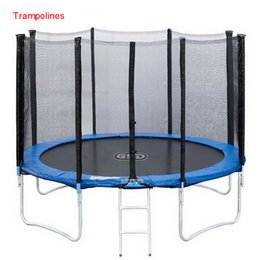 jumping trampolines 2019 - Wholesale- High Quality 55 Inch Kids Elastic Ring Trampoline With Safe Net Fits Jumping Material PVC Interior with net b