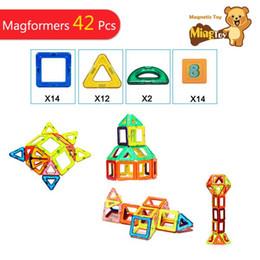 3d magnetic blocks 2019 - Similar Toy Bricks 42 Pieces 3D MAGNETIC BUILDING TOY Magnetic Block Building Matched Toy Bricks Magaformers discount 3d