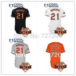 00dd67b4b baltimore orioles nick markakis 21 black replica jersey sale