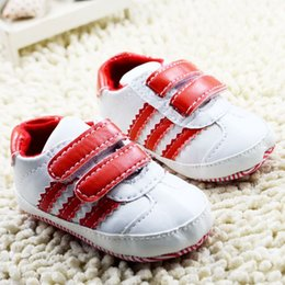 $enCountryForm.capitalKeyWord NZ - Buckle Strap Baby Kids Shoes For 2015 Winter Hot Arrival Toddler Children Soft Shoes Fashion Boys Sport Shoes Fit 0-18M 6Pcs Lot SS704