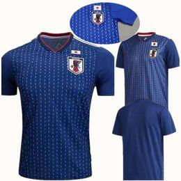 a03f976f0 Thai Quality 2018 World Cup Japan Soccer jerseys OKAZAKI KAGAWA HASEBE  NAGATOMO 2018 Japan Home blue Japanese wC Football Shirts Kit