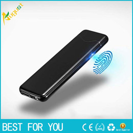$enCountryForm.capitalKeyWord Canada - Thin 5.5mm Double Sided Fingerprint ignition Cigarette Lighter USB Windproof Electronic Touch Sensing Cigarette Lighter