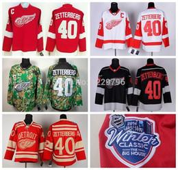 1cda4a45fe6 Detroit Red Wings #40 Henrik Zetterberg Hockey Jerseys Home 2014 Winter  Classic Cheap Henrik Zetterberg Stitched Jerseys C Patch