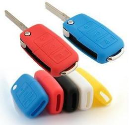 Volkswagen Car Key Covers Canada - silicone car key cover case For Volkswagen VW polopassat b5 b6 golf 4 5 6 jetta mk6 tiguan Gol CrossFox Plus Eos Scirocco Beetle