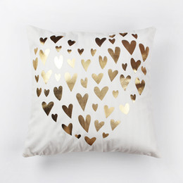 $enCountryForm.capitalKeyWord Australia - Fashion Bling Sequin Bronzing Pillowcase Pillows Case Cover Pillow Art Stripe Lips Eyelash Black White Gold Bedroom Home Sofa Decorative