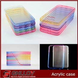 Wholesale cases iphone5 resale online - Hot sale Transparent Skin Protective Phone Cases Gradient Acrylic Clear Back Cover For iphone5 plus up