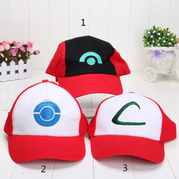 Chinese  3pcs lot Pocket Cap Ash Ketchum Pikachu Ball Caps Pikachu Baseball Cap kids hat toys Free Shipping manufacturers