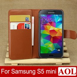 $enCountryForm.capitalKeyWord Canada - Cell phone case for samsung galaxy S5 mini leather case Wallet Style With credit card Slots Stand 9 colors choice S5mini