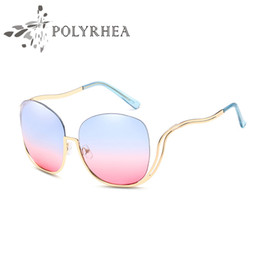 $enCountryForm.capitalKeyWord Canada - High Quality Sunglasses Women Brand Designer Round Rimless Sun Glasses Vintage Anti UV Shades Round Bend Frame Sunglasses With Box