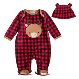 Barato Veludo De Meninos-Unissex Baby Romper Inverno Coral Fleece manga comprida com capuz Velour Romper Cartoon Warm Jumpsuit Animal Baby Girl Boy Clothes