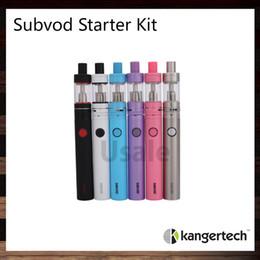 Subtank atomizer original online shopping - Kanger SUBVOD Starter Kit ohm ml Subtank Nano S Atomizer With mah Subvod Battery Kangertech Vaporizer Pen Kit Original