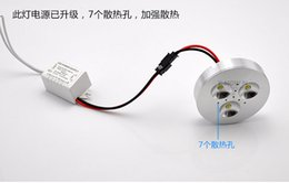 Ingrosso 12V DC 3 * 2W Dimmerabile LED Under Light Light Puck Light Bianco caldo, bianco naturale, bianco freddo per illuminazione da cucina