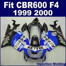 Abs Molding Canada - 100% ABS racing Injection molding for HONDA fairing parts CBR 600 F4 1999 2000 blue black cbr600 f4 99 00 custom fairing ICAD