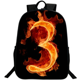 $enCountryForm.capitalKeyWord UK - 3 lucky number backpack Street hiphop daypack Fire printing schoolbag Photo rucksack Sport school bag Outdoor day pack