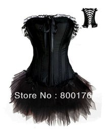 Dors Corset Satin Noir Pas Cher-Livraison en gros sans New Satin Overbust Noir Corset Fancy Dress Ladies Sexy Lingerie Basque Corset Party Wear A018