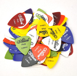 $enCountryForm.capitalKeyWord Canada - 100pcs 0.58mm Alice Smooth ABS Guitar Picks Plectrums Bass Jazz