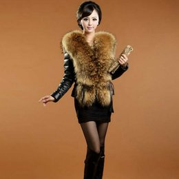 jacket sheep skin Canada - Wholesale-S-3XLWomens Fur Coats And Jackets Winter 2015 Brand High-Grade Sheep Skin Winter Jacket Participants in Real Fur Coats For Women