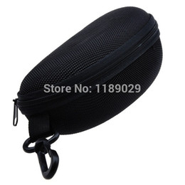 sunglasses for eyeglasses 2019 - Wholesale-Black Fashion Hard Zipper Bag Protector Case Storage Box Holder Eyewear Accessories for Eyeglasses Sunglasses