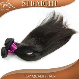 "Human Bulk Braiding Hair Extension Canada - Grade 10A peruvian straight hair weaves brazilian indian malaysian russian human hair weft 3 bundles bulk braiding hair extensions 8""-28"""