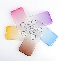 $enCountryForm.capitalKeyWord NZ - Gradient Electroplate Metal Button TPU Back Cover Case For iPhone X 6 7 8 Plus Samsung S8 Plus Note 8 A5 J2 J3 J5 J7 Prime 2017 LG G6 Moto