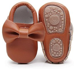 $enCountryForm.capitalKeyWord Canada - Lovely bow hard sole toddler moccasins first walker shoes PU leather baby girls shoes fashion infant first walking shoes