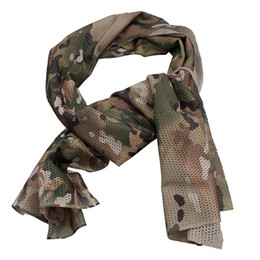 Jungle hunting online shopping - Arab Army Tactical Camouflage Scarf Men Outdoor Jungle Combat Windproof Mesh Shawl Veil Shemagh Hunting Scarves