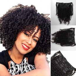 Discount kinky curly brazilian clip hair - Interlovehair Brazilian Hair Weaves Clip In Remy Human Hair Extension 100% Natural Human Hair Natural Color No Shedding