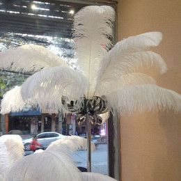 Christmas Tables Canada - White Ostrich Feathers Table Centerpieces Wedding Birthday Christmas Decorations Table Centerpiece Event Decoration Party Supplies Many Size