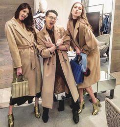 43fc90c62a3 camel wool cashmere women coats 101810 icon coats lapel neckline high  quality long sleeves winter women outerwear coats
