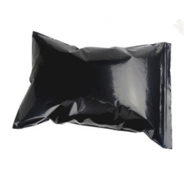 Opaque plastic bags online shopping - 17 cm quot Opaque Black Self Seal Zipper Top Ziplock Bag Plastic Zip Lock Packing Bag Retail Resealable Packaging Poly Bag Pouch