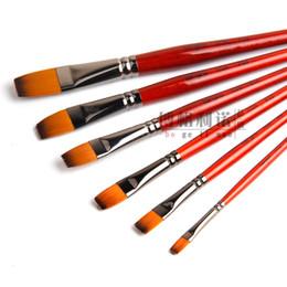 $enCountryForm.capitalKeyWord Australia - Wholesale-6Pcs Bergino Nylon Hair Oil Paint Brush Set Watercolor Acrylics Gouache Painting brushes Circular front brush Art Supplies