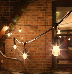 15 Bulb Strings Vintage Style Outdoor String Light Commercial Patio String  Light Incandescent 11W S14 Bulbs 48 Feets 15 Light E27 Bulb Light