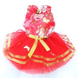 $enCountryForm.capitalKeyWord Canada - Dog Wedding dress pet Princess skirt clothes flowers design,4 sizes available