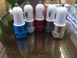 $enCountryForm.capitalKeyWord Australia - Metal Dual USB Port Car Charger Universal 12 Volt   1 ~ 2 Amp for Apple iPhone 6 iPad iphone 5 Samsung S7 S6 S4 Motorola LG Nokia HTC SONY
