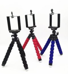 octopus tripod stand 2019 - Generic Mini Octopus Flexible Tripod Stand Mount Holder Pod Mount Monopod Bubble Selfie Stand Adapter for iphone 6 6s Sa