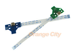 $enCountryForm.capitalKeyWord Canada - LED Power Charge Board socket Ribbon Cable for PS4 Wireless Controller 12 PIN 14 pin board and 12 PIN 14 PIN cable