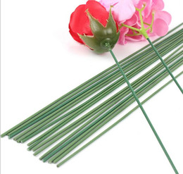 $enCountryForm.capitalKeyWord Canada - 100pcs Flower Garland Green Wire rod wrapped rod Paper rattan materials special soft wire For handmade DIY Material