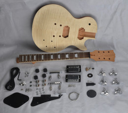 Guitar finGerboards online shopping - DIY Electric Guitar Kit With Mahogany Body Flamed Maple Top Rosewood Fingerboard
