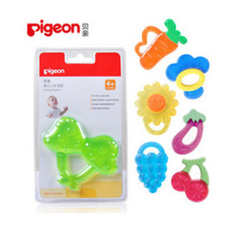 teethers 2018 - Pigeon Brand 7 Style Cute Baby Kids Cartoon Teethers Holder Toothpaste Soothers & Teethers Girls Boys Teech Protect A502