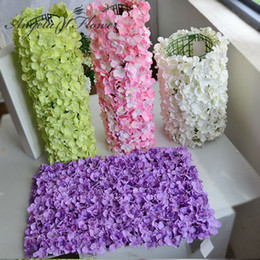 Discount wedding stage decoration flowers 2018 wedding stage noble carpet type hydrangea diy wedding setting wall decoration road led flower t stage decorative photo background wedding stage decoration flowers outlet junglespirit Image collections