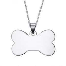 $enCountryForm.capitalKeyWord UK - Stainless Steel Silver Dog Bone Shaped Blank Metal Tags Pet Name Pendants