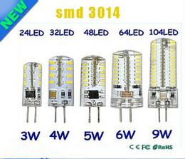 G4 12V 110-220 V LED Corn Lampada 3W 4W 5W 6W 9W LED Light 3014 Corn Lampadina in silicone Lampade Lampadario di cristallo Decorazione della casa Luce
