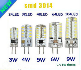 Vente en gros G4 12V 110-220V LED Lampe De Maïs 3W 4W 5W 6W 9W LED Lumière 3014 Maïs Ampoule Silicone Lampes Lustre En Cristal Décoration de La Maison Lumière