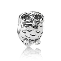 $enCountryForm.capitalKeyWord UK - Small Fashion Cute Owl Shape 925 Sterling Silver European Bead Charms For Fine Unique Vintage DIY Snake pandora Bracelet Bangle Jewelry
