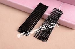 Hair Color Edges Australia - 600pcs =10cards 45mm Invisible Hair Accessories Black Bobby Pin Ball Tip Clip Headdress Fine Hairpin Hair Pin Edge Clip Fj3229